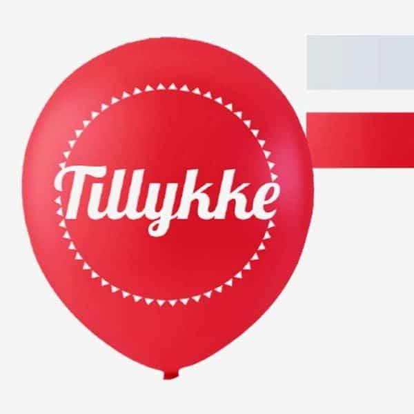 Balloner DK Tillykke /10 stk