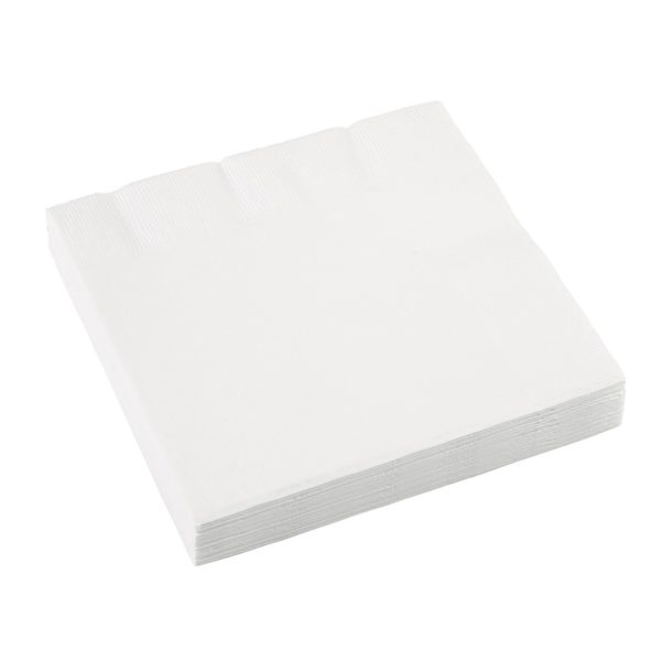 20x Hvide Servietter, 33x33