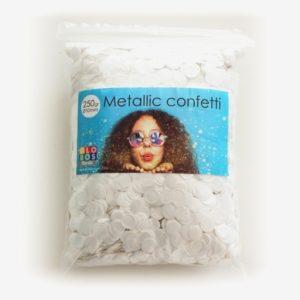 Konfetti Metallic Hvid