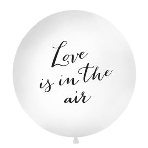 Giant Balloon 1 m, Love is in the air, white