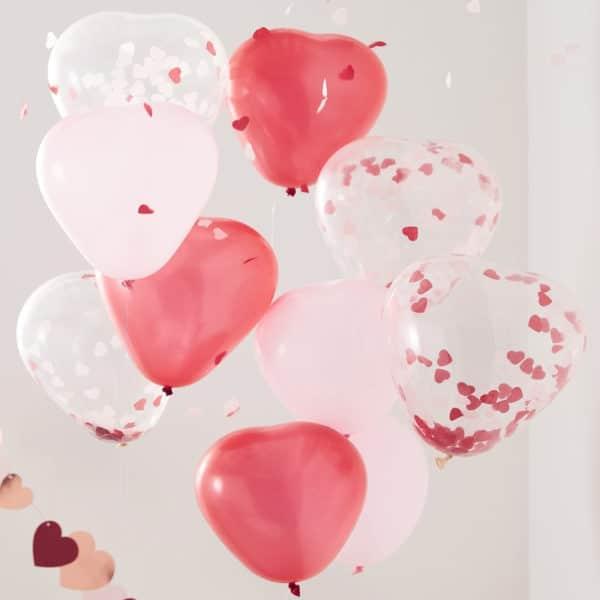 3 Slags Hjerte Balloner