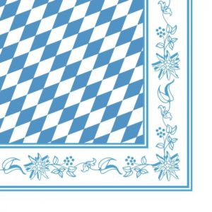Bayerisk Tekstilserviet Blå-Hvid - 12 stk. - 40x40 cm