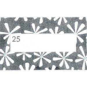 Bordkort sølvbryllup - Hvid og sølvfarvet - 10 stk