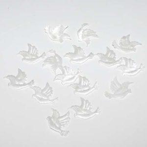 Due drys - 15 stk. - Hvide duer