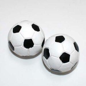 Fodbold - Hvid/Sort 5 cm - 2 stk.