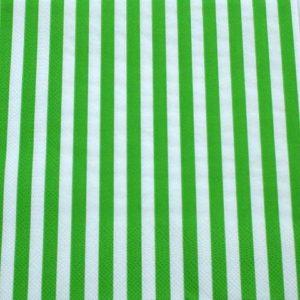 Frokost serviet - 20 stk. - 33 x 33 cm- Grønne hvide striber