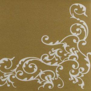 Tekstilserviet Pomp Guld Hvid - 12 stk. - 40 x 40 cm