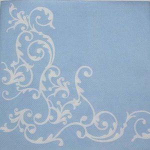 Tekstilserviet Pomp Lyseblå Hvid - 12 stk. - 40 x 40 cm