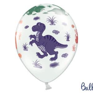 Dinosaurus Balloner, Pastel Hvid