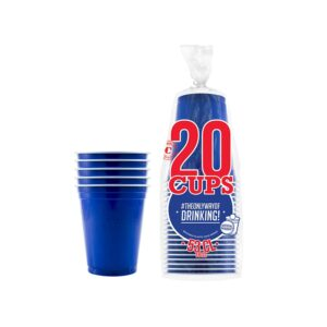 20x Orignal Cup: Blå Beer Pong Kopper