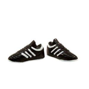 Fodboldstøvler 2 stk - L 4,5 cm -Sort hvid